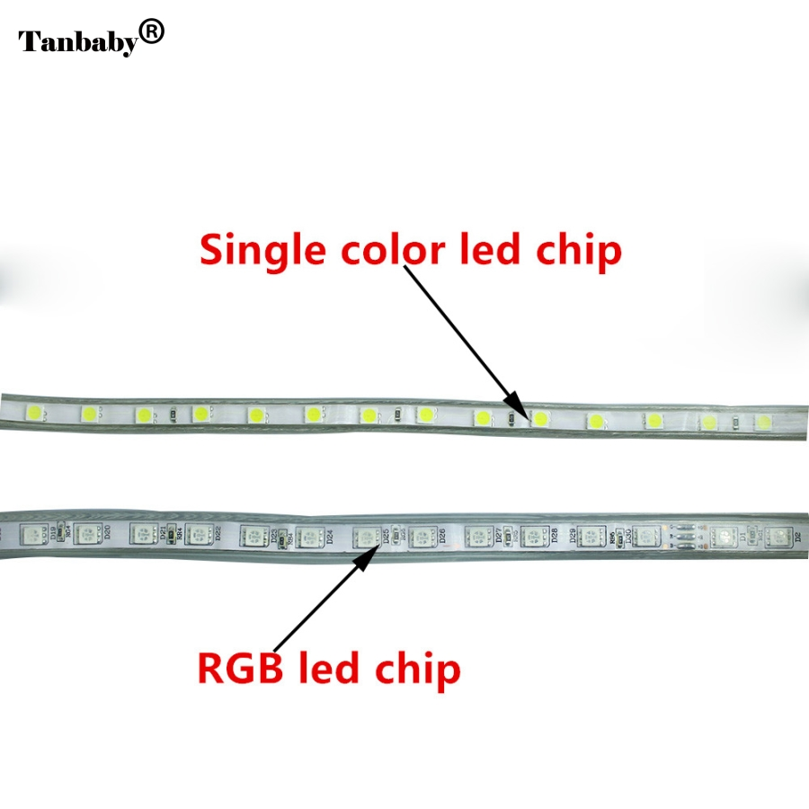 5050 led strip wiring diagram nissan frontier 2006 ip67 waterproof smd ac220v flexible light eu power plug 60leds m 1m 2m 3m 5m 10m 15m indoor outdoor in strips from lights