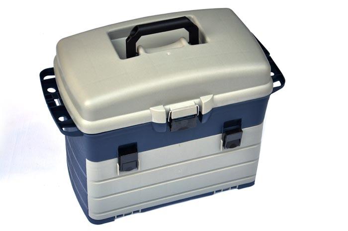 voltar assento caixa de ferramentas 3 camadas isca caixa de armazenamento