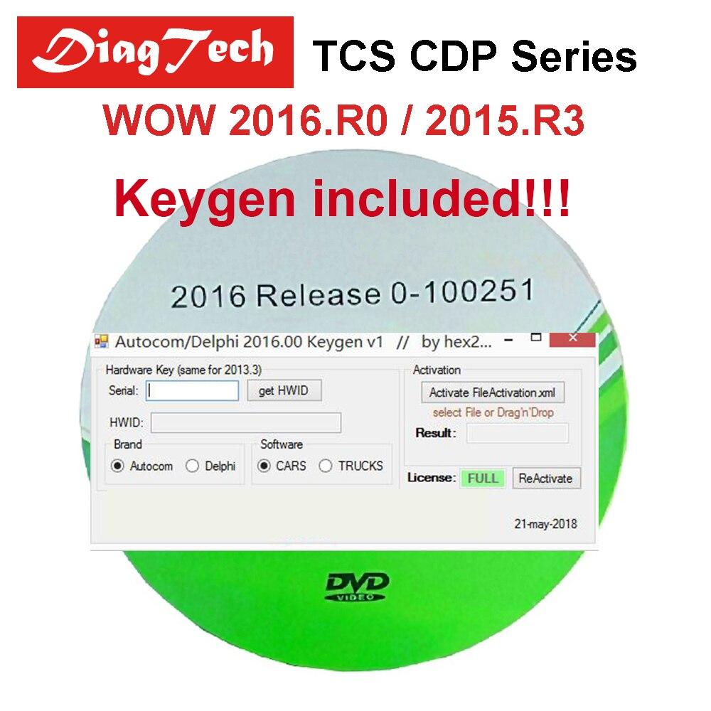 D'origine 2016 R0 Logiciel Pour Tous Les VD TCS CDP Pro Multidiag Pro + SW 2016.00/2015. r3 Livraison Keygen WOW Snooper Pour Voitures Et Camions