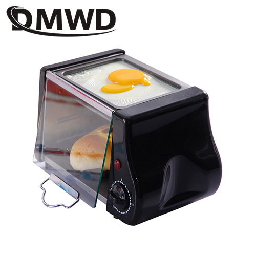 DMWD Mini Electric Oven Roast Grill Frying Pan Toaster Cake Bread Baking Machine Fried Eggs Omelette Frying Pan Breakfast Maker
