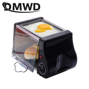 DMWD Mini Electric Oven Roast Grill Frying Pan Toaster Cake Bread Baking Machine Fried Eggs Omelette Frying Pan Breakfast Maker