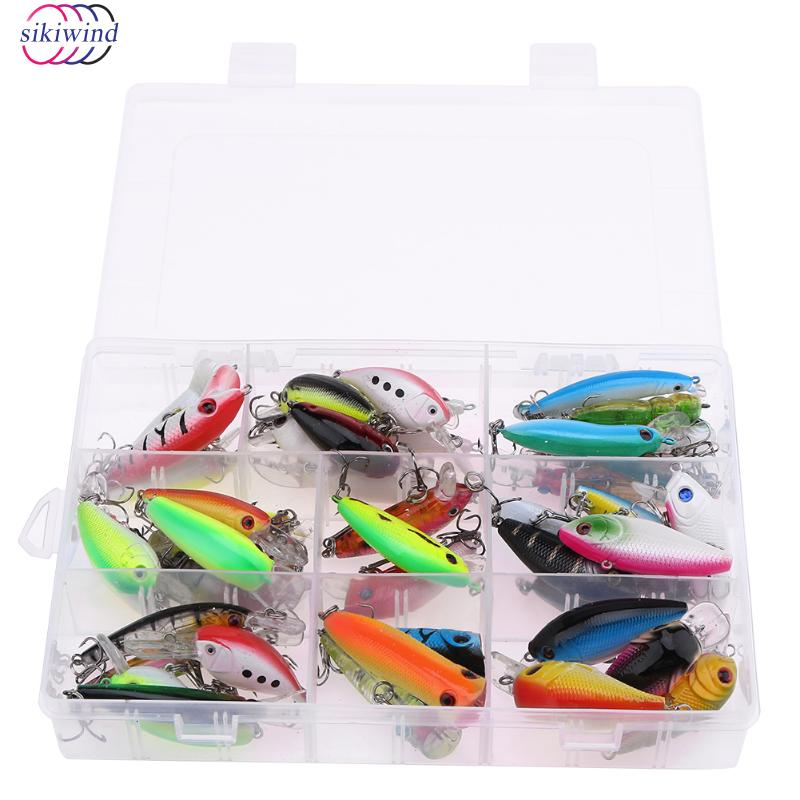 43pcs Mixed Fishing Lure Set Artificial Bait Fishing Kit Minnow Fishing Wobblers 43 Colors Crankbait Hard Fishing Tackle Pesca amlucas minnow fishing lure 110mm 9 5g crankbait wobblers artificial hard baits pesca carp fishing tackle peche we266