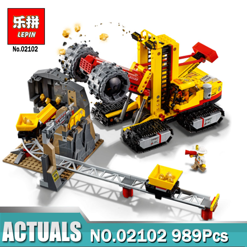 Lepin 02102 City Bricks Toys 989Pcs The Mining Experts Site Set Compatible Legoing 60188 Building Blocks Kits Toys as Kids Gifts a toy a dream lepin 15008 2462pcs city street creator green grocer model building kits blocks bricks compatible 10185