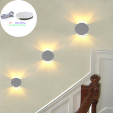 Modern sconce light Led Wall Light lamps Step Stair 67mm Dia Round Aluminum 1.5W AC/DC 12V home bedroom Foyer fashion KTV BAR
