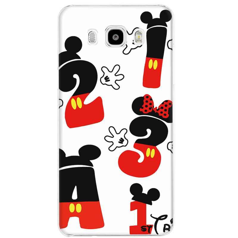Caso de Telefone Celular Para Samsung Galaxy J1 Gerleek J2 J3 J5 J7 Capa Dura Orelhas de Mickey Mouse