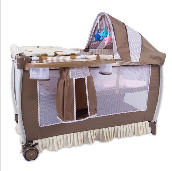Protezione ambientale del bambino multifunzionale pieghevole culla ...