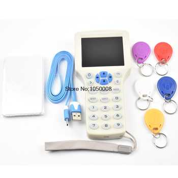 English 10 frequency RFID Copier ID IC Reader Writer Encrypted Duplicator Programmer13.56mhz UID Writable card+125khz T5577 Keys - DISCOUNT ITEM  20% OFF All Category