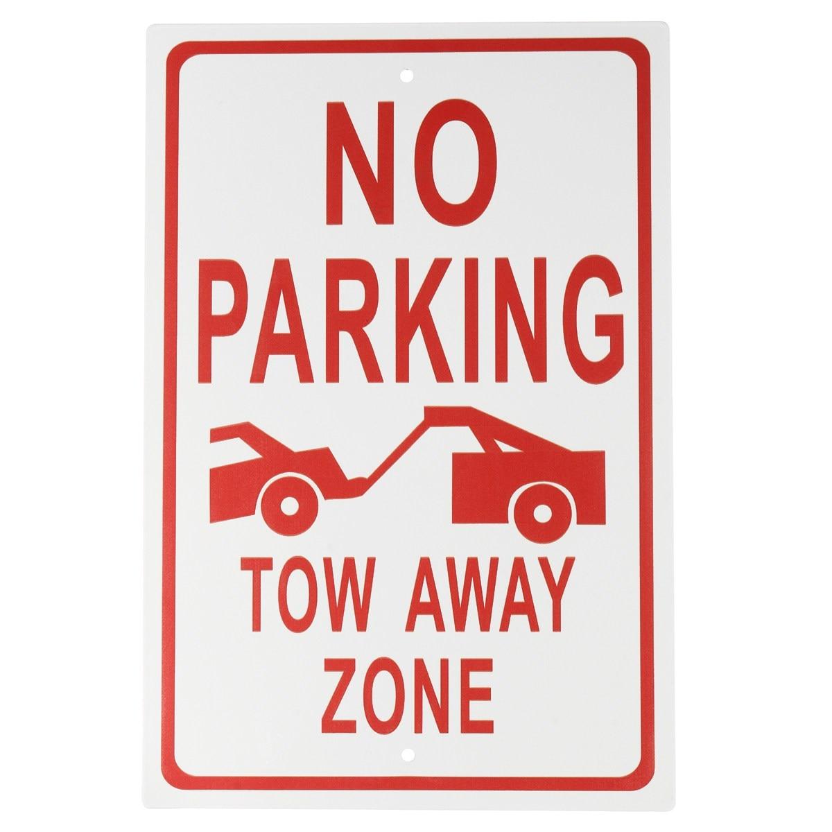 Safurance Алюминий Сплав Нет парковки-буксировки от зоны Предупреждение знак на рабочем месте Детская безопасность безопасности