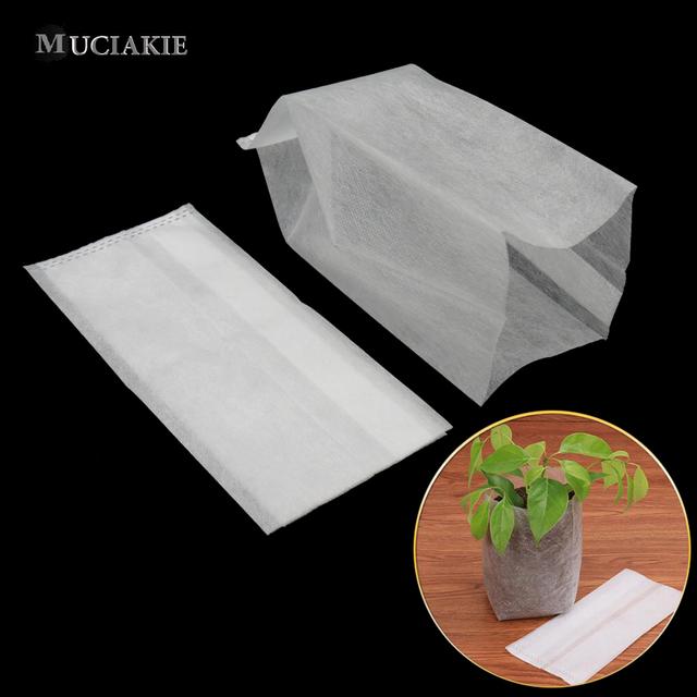 100PCS Different Sizes Mixed Degradable Plant Non-woven Nursery Pots Seedling Raising Bag Plants Garden Supply