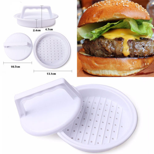 Hot Hamburger Beef Veggie Burger Quarter Producer Patty Maker Mould Press Barbecue image