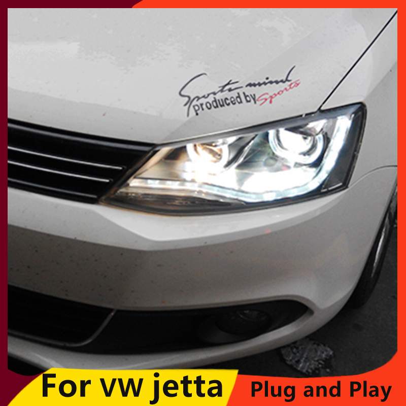 KOWELL Car Styling For vw jetta headlights For VW jetta MK6 head lamps with LED guide