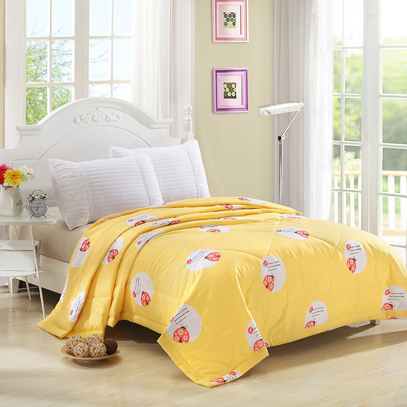 Sookie Summer Cartoon Print Thin Comforter Stiching Duvet Quilt ... : thin quilted bedspreads - Adamdwight.com