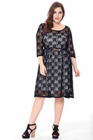 Women S Plus Size Sweet Leah Lace Dress 6XL Big Size Clothing Women New 2017 Autumn