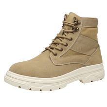 Купить с кэшбэком Spring/autumn genuine leather military boots adult men shoes casual shoes rubber mens shoes breathable men boots