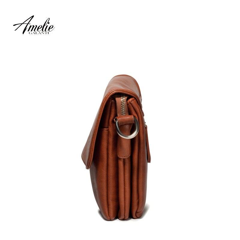 AMELIE GALANTI brand crossbody bag casual flap pu solid soft zipper cover versatile single high quality cotton famous designer