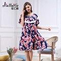 2017 Мода Лето Женщины Ночная Рубашка Пижамы Платье Цветок Печатных Платье для Женщин С Коротким Рукавом Ночные Сорочки трусы Плюс Размер