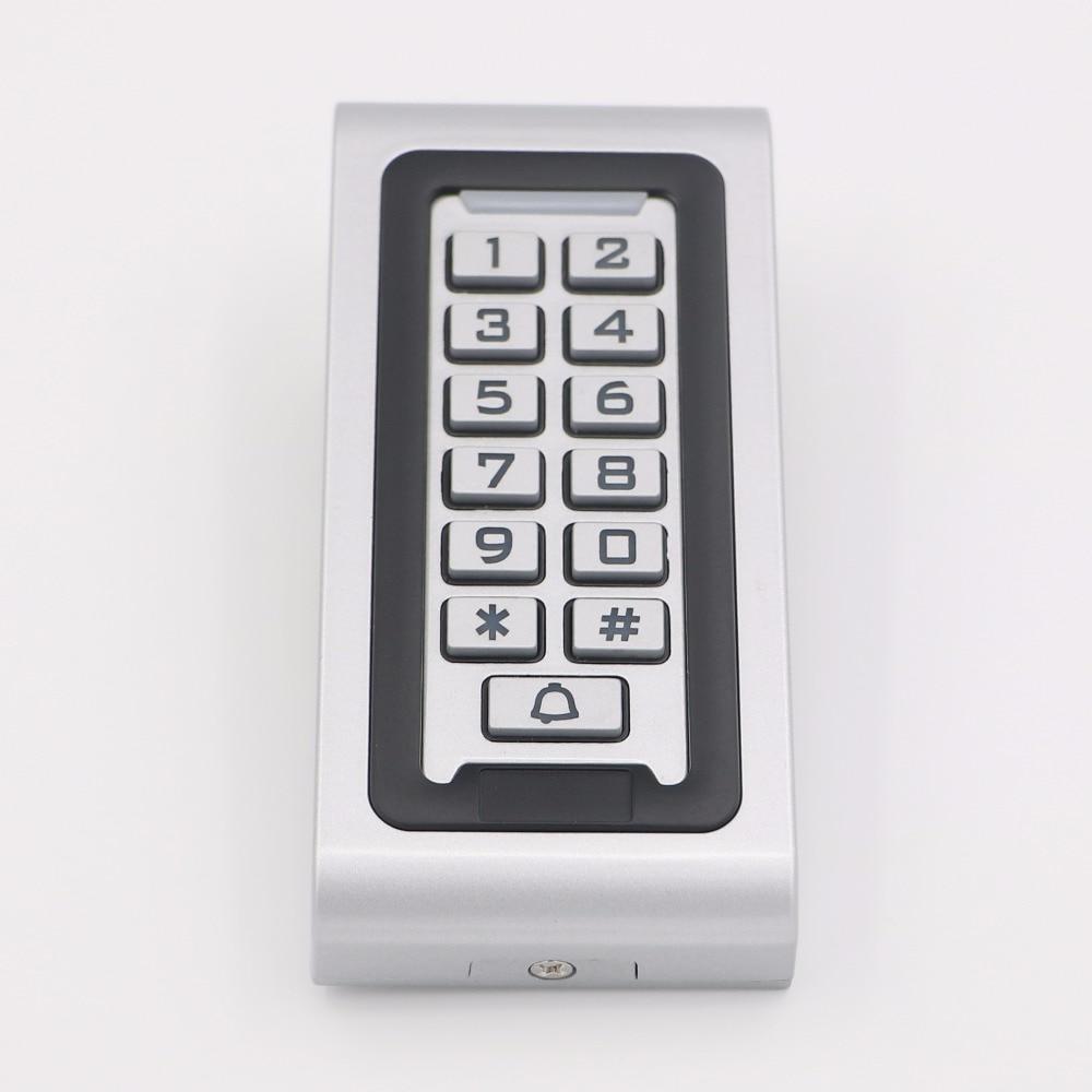 RFID 13.56MHz Waterproof  Access Controller Reader Keypad With Metal Case Highperformance Metal Standalone Access Control DouWin metal rfid em card reader ip68 waterproof metal standalone door lock access control system with keypad 2000 card users capacity