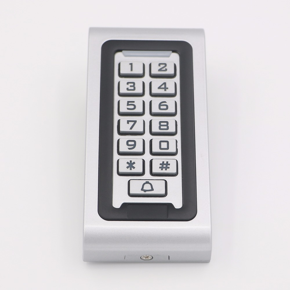 Reader Keypad RFID 13.56MHz Waterproof  Access Controller With Metal Case Metal Standalone Access Control Access card reader surface waterproof metal key access control card reader standalone 8000 users single door 125khz rfid em card access controller
