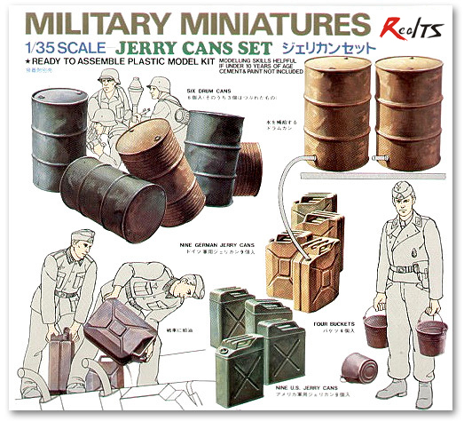 RealTS Tamiya 35026 1/35 Scale Military Miniatures Model Kit Drum & Jerry Cans Set