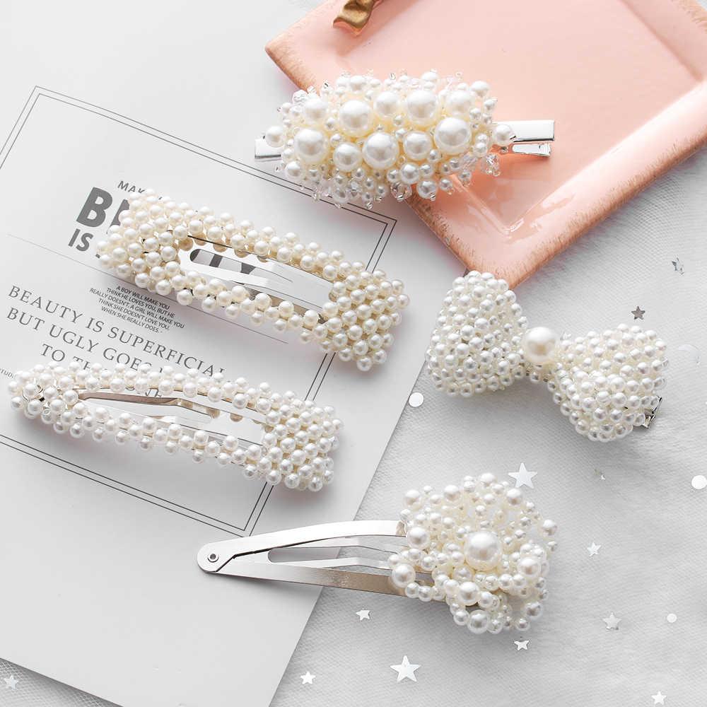 Новые Элегантные перламутровые заколки для волос женские заколки для волос заколка для прически головные уборы ювелирные изделия для девушек