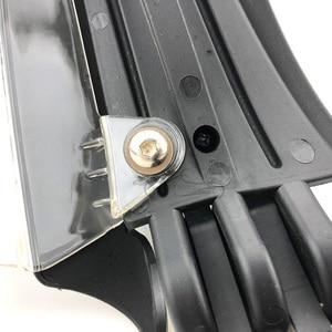 "Image 5 - 7/8 ""22mm אופנועים משמרות יד בר סוף פחמן מראה נופל מגיני עם LED אור אוניברסלי עבור הונדה קוואסאקי KTM פולאריס"