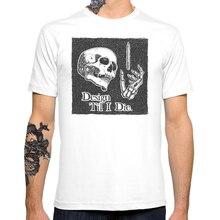 2017 New Til I Die skull Men's Customized T-shirt Casual Basic Tops Hipster
