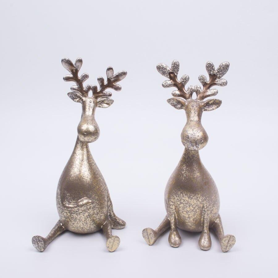 Online buy wholesale christmas reindeer figurines from