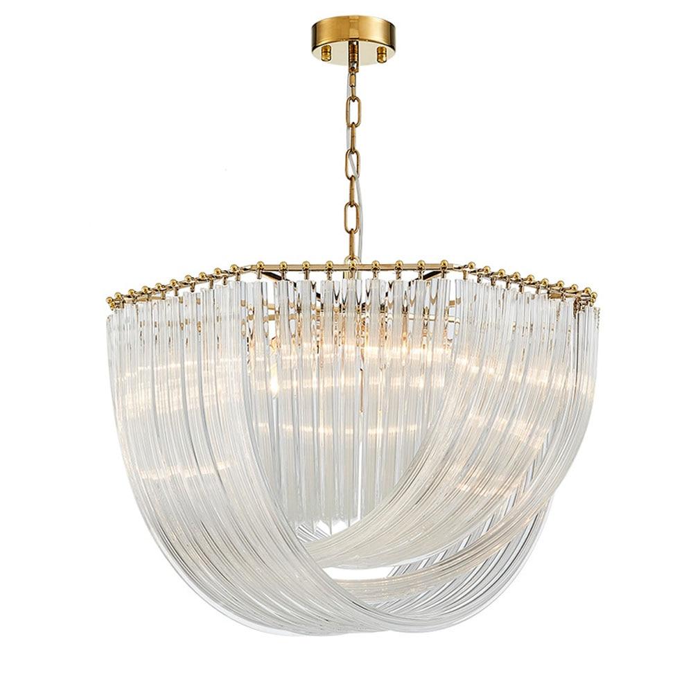 high quality modern chandelier crystal lamp AC110V  220V lustre gold chandelier living room lights wideth 80cm