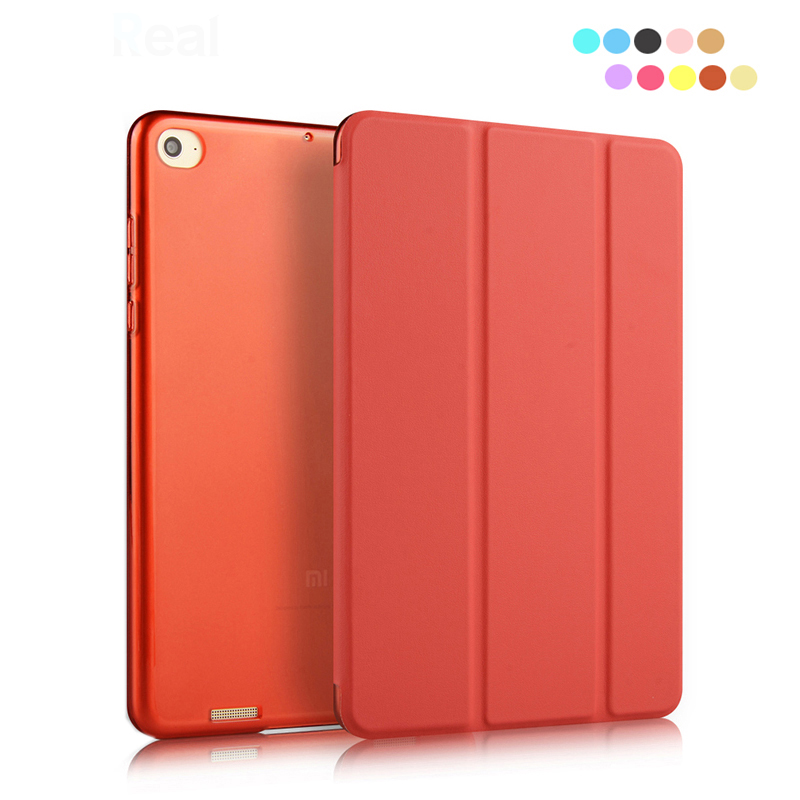 +Free Film+Free Stylus Pen Solid Ultra Thin Cover Case for XiaoMi Mi Pad 1 Funda PU Leather Tri-folded Case Tablet Cases Cover цена и фото
