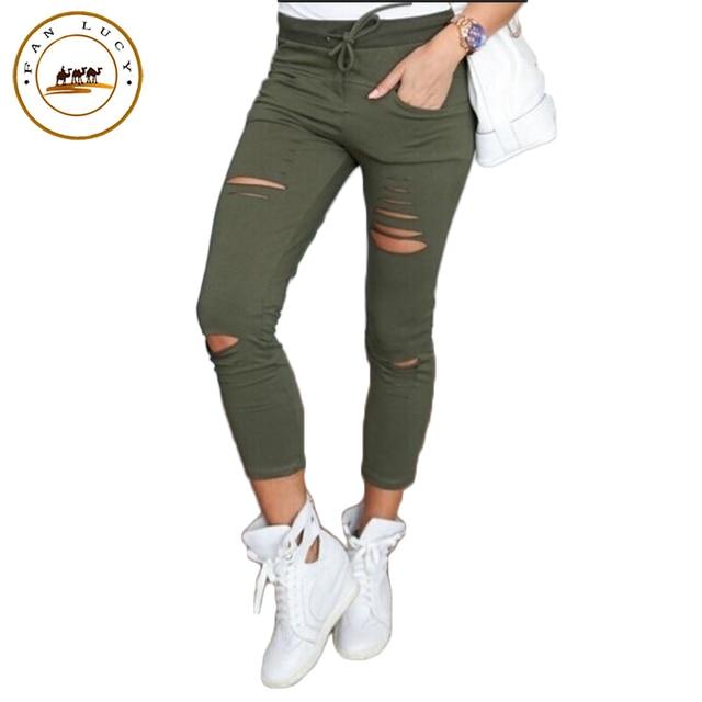 Nouveau Cheville Évider Longueur Mode Solide Pantalon 2018 Couleur 4qwRdPUFPx