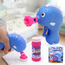 2018 Newly Cartoon Crap Bubble Gun Toy Manual Animal Fish Bubbles Outdoor Funny