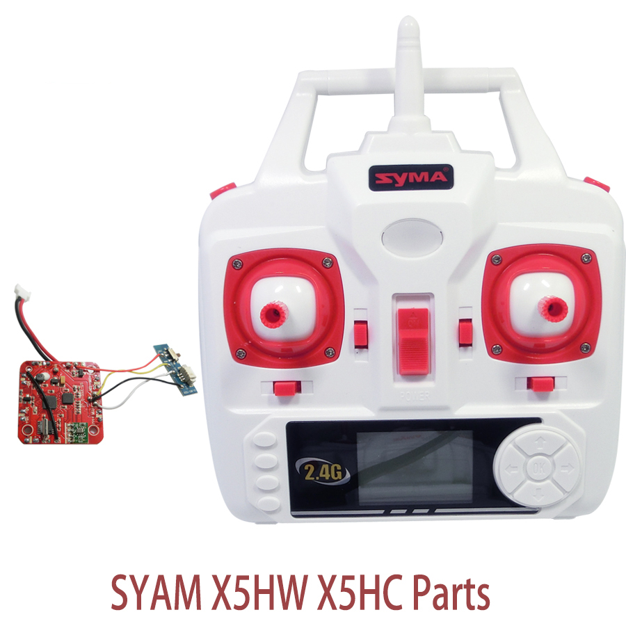 цены  Syma X5HW X5HC Set High Mode PCB Board Receiver And Transmitter Remote Controller Spare Parts For X5HW RC Helicopters Drone