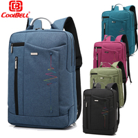 Coolbell 14 15 6 Inch Laptop Backpack Polyester Travel Business Student College Daypack Bag For Macbook