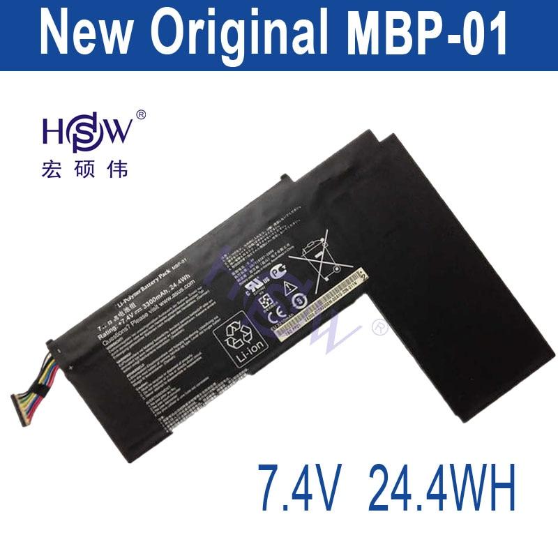HSW 7.4V 3300mah/24.4Wh Original MBP-01 Laptop Battery FOR Asus TBD PP21 Series bateria akku