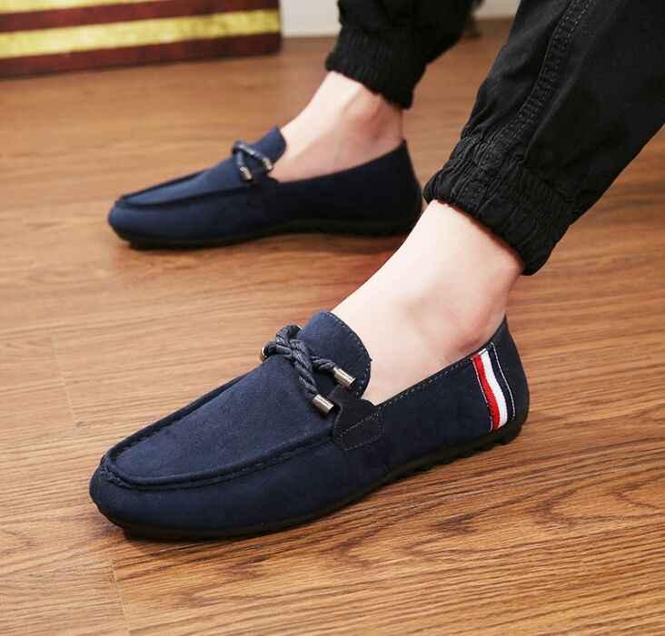 a8dccb3058e1 Летняя Стильная мужская обувь для молодых людей, крутая мужская  повседневная и удобная обувь для вождения