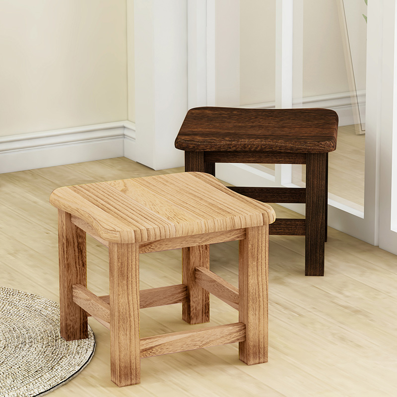 Building Block Tribe Creative Stool Solid Wood Dining Table Square Stool Fabric Dressing Stool Fashion Makeup Stool Bench Home S Home Furniture