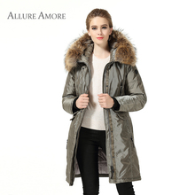 Winter jacket women warm long coat solid luxury outwear spring casual thick jacket fashion winter parka ukraine 2017 AllureAmore