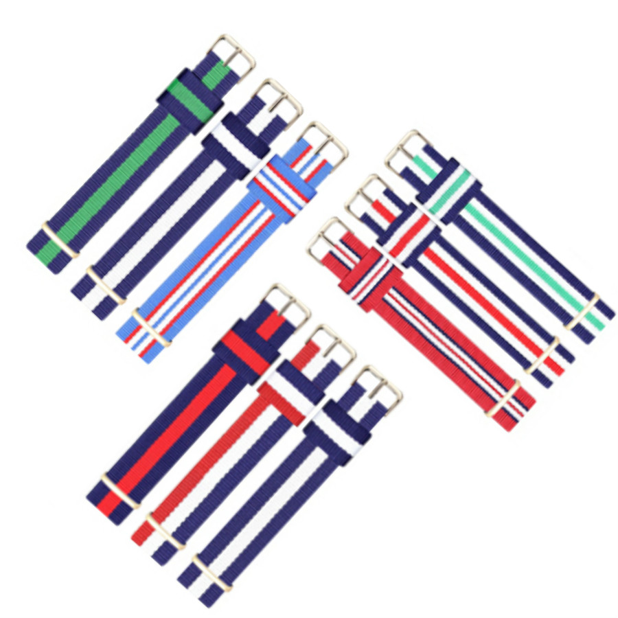 Top Quality luxury watchband 18mm 20mm colorful nato nylon strap for  dw  watch mujer strap on for hours