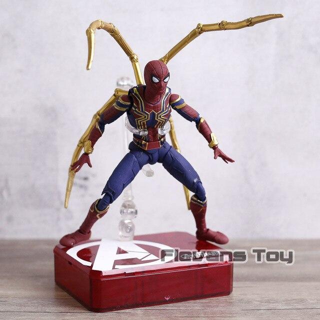 Vingadores Infinito Guerra Ferro Aranha Spiderman PVC Action Figure Gift Collection Modelo Toy