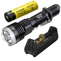 SALE Nitecore P16TAC 1000LM CREE XM L2 U3 LED Flashlight + F1 Charger + 18650 Rechargeable Battery Hunting Search Tactical Torch