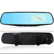 400mA ~ 600mA Auto DVR 4.3 pollici HD Dual Lens 1080 P Specchio di Retrovisione Dell'automobile DVR Dash Cam Recorder macchina fotografica