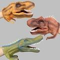 Presentes Modelo de Dinossauro Tiranossauro Rex Fantoche Fantoche de Mão Pequeno Action Figure Toy Collectible Modelo Brinquedos De dinossauros de Plástico 1 pcs