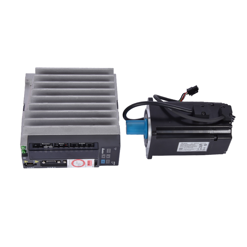 New Arrival 750 W AC Servo Motor Drive Kit 0.75KW Servo Driver ASD-B2-0721-B + Motor ECMA-C20807RS 80mm 3000 rpm 2.4NM 220v Hot цена