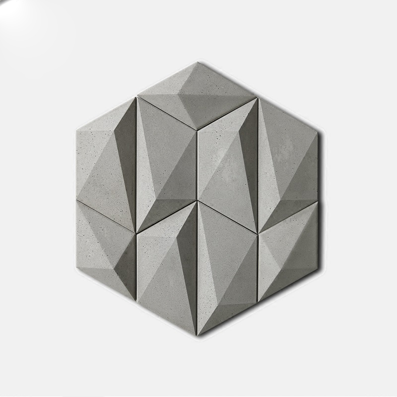 3D cement wall tile mold geometry background wall decoration Concrete gypsum plaster wall tiles silicone mold