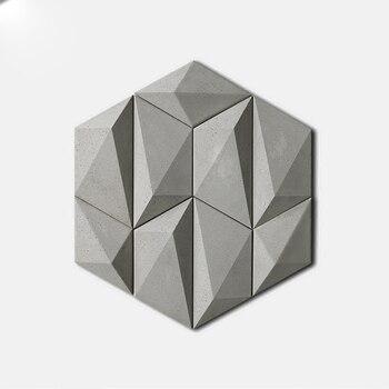 3D форма для цементной плитки, геометрический фон для украшения стен, бетонная гипсовая штукатурка, настенная плитка, силиконовая форма