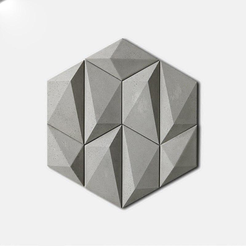 3D muro di cemento piastrelle muffa geometria sfondo decorazione della parete di Cemento muro di gesso gesso piastrelle stampo in silicone3D muro di cemento piastrelle muffa geometria sfondo decorazione della parete di Cemento muro di gesso gesso piastrelle stampo in silicone