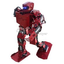 2018 16DOF Robo-Soul H3s Biped Robtic Two-Legged Human Robot Aluminum Frame Kit with Helmet Head Hood-only humanoid robot(China)
