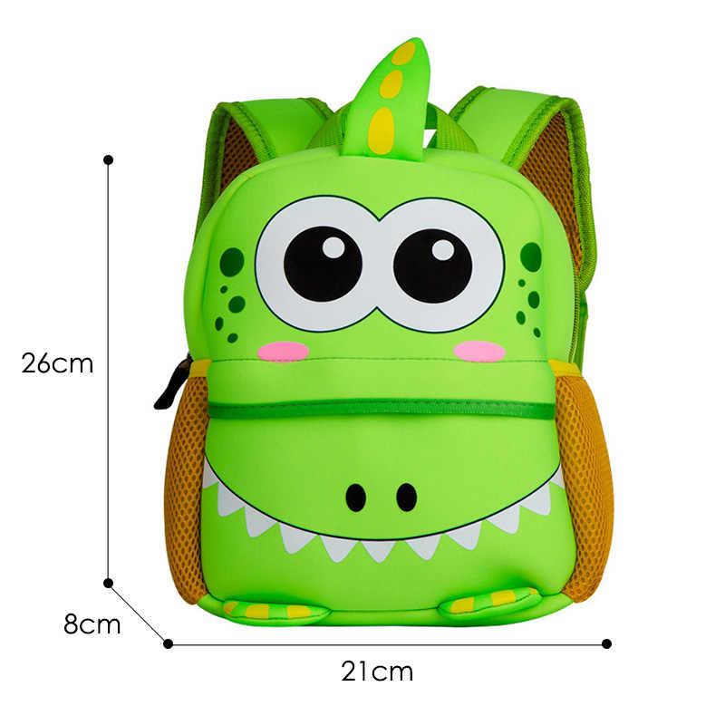 Śliczne dzieci maluch szkolne torby 3D Cartoon dinozaur plecak neoprenowy plecak do przedszkola dziewczyna chłopcy torba plecaki dla dzieci