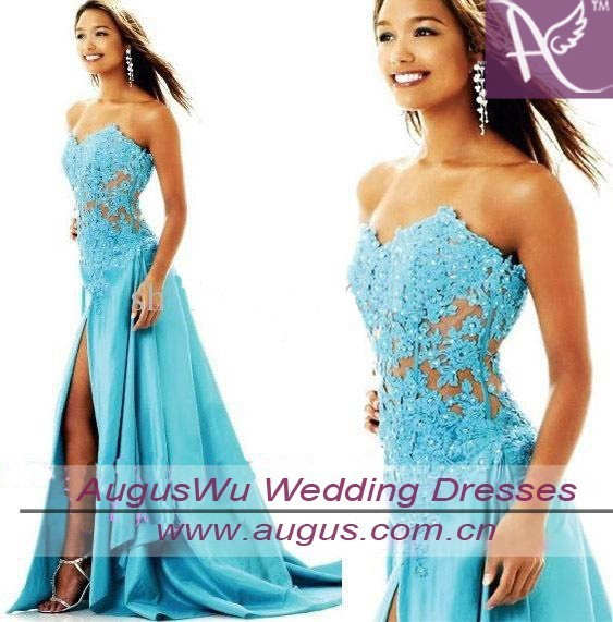 vestido debutante 15 anos new Sexy blue lace Applique beading Pageant gown Sweetheart Party custom Homecoming bridesmaid Dresses in Bridesmaid Dresses from Weddings Events