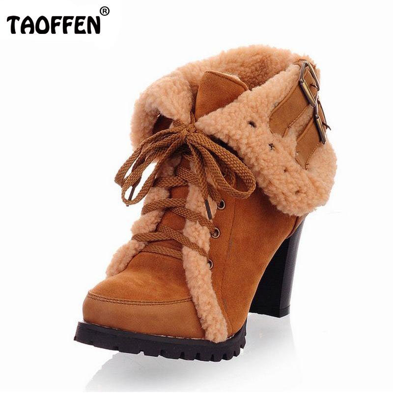 women ankle boots high heel short half boot winter fashion sexy botas warm fur buckle shoes P1794 on sale size 32-43 women buckle ankle boots winter fur warm high heels boots for women fashion pointed toe chunky heel boot pu leather shoes